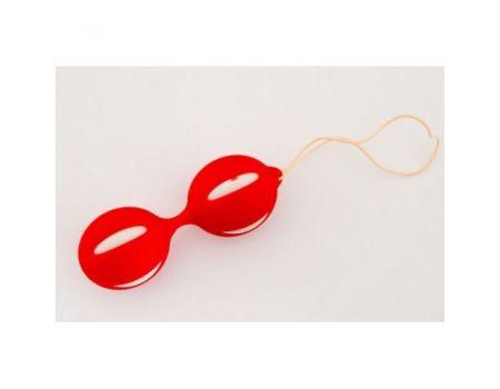 Вагинальные шарики бело-красные LT-017