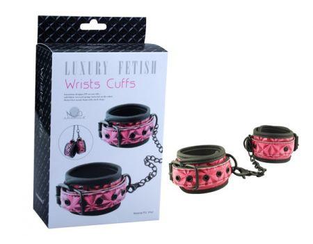 Наручники Wrists Cuffs EK-3104 розовые