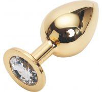 Golden plug large цвет кристалла бесцветный gl-01
