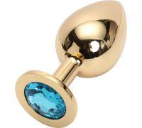 Golden plug large цвет кристалла голубой gl-05