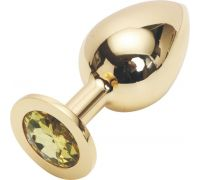 Golden plug large цвет кристалла желтый GL-06