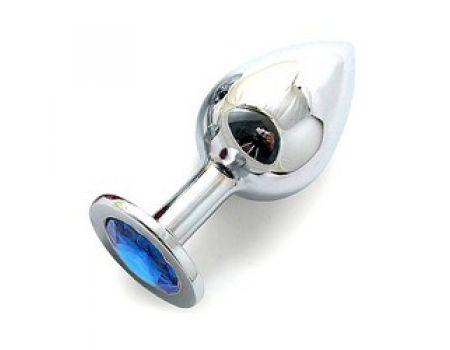SILVER PLUG LARGE кристалла голубой SL-05