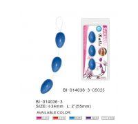 Анальные шарики голубые BI-014036-3