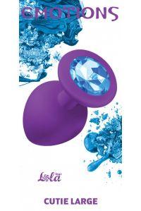 Анальная пробка blue crystall 4013-05