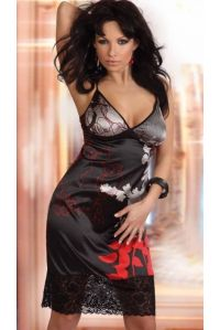 Сорочка + трусики DALIA черный размер S
